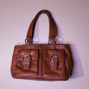 Leather COACH Bag.used good condition